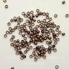 Кримпы - зажимные бусины 2х1,2 мм (цвет - античная медь) 2 гр, (примерно 180 штук)