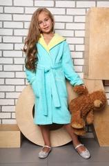 Mimi (бирюза)  халат для девочки подростково-детский цвет  Five Wien Турция