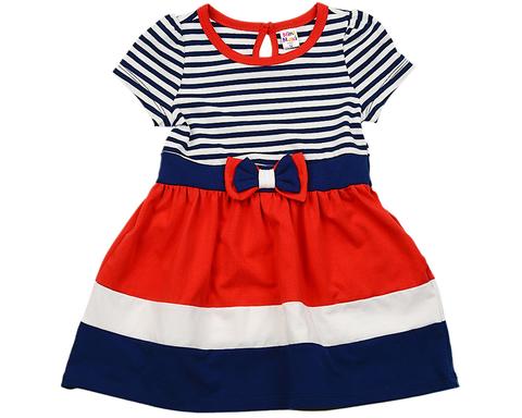 Платье в полоску с коротким рукавом Mini-Maxi (арт.UD1970(1))