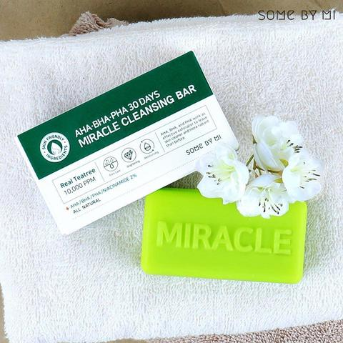 Мыло для проблемной кожи, 160 г / Some By Mi AHA/BHA/PHA 30 Days Miracle Cleansing Bar