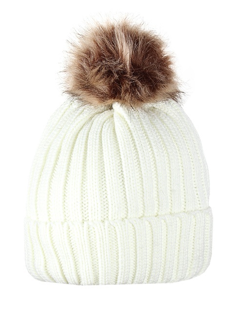 HT1806-1 шапка женская, белая