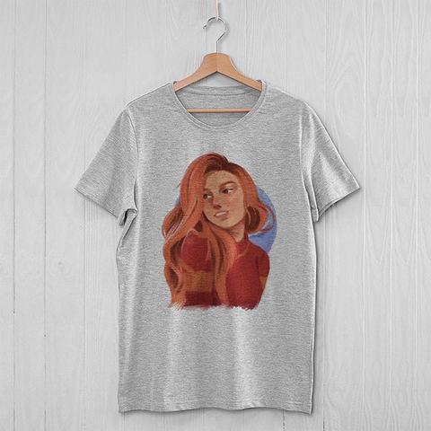 Серая футболка с Джинни Уизли