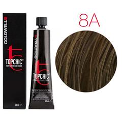 Goldwell Topchic 8A (светло-русый пепельный) - Cтойкая крем краска 60мл