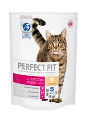 PERFECT FIT полноценный корм для взрослых кошек с курицей