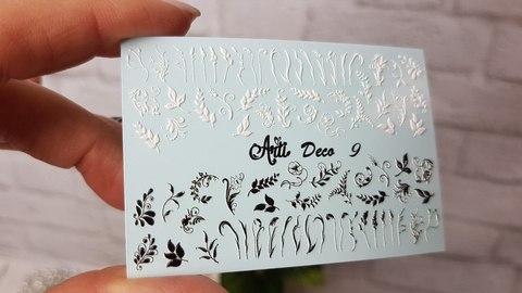 Слайдер Arti 3D Deco № 009 - голубая подложка