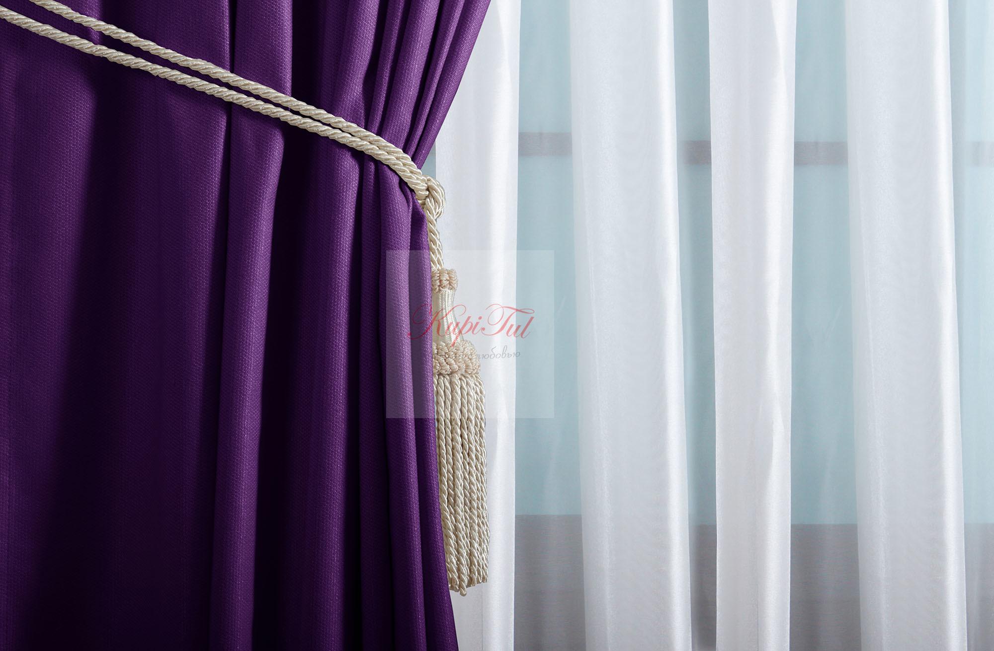 Комплект штор Ницца (фиолетовый)