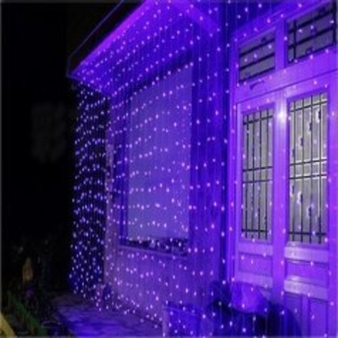 LED светодиодная гирлянда штора дождь 3 на 3 метра