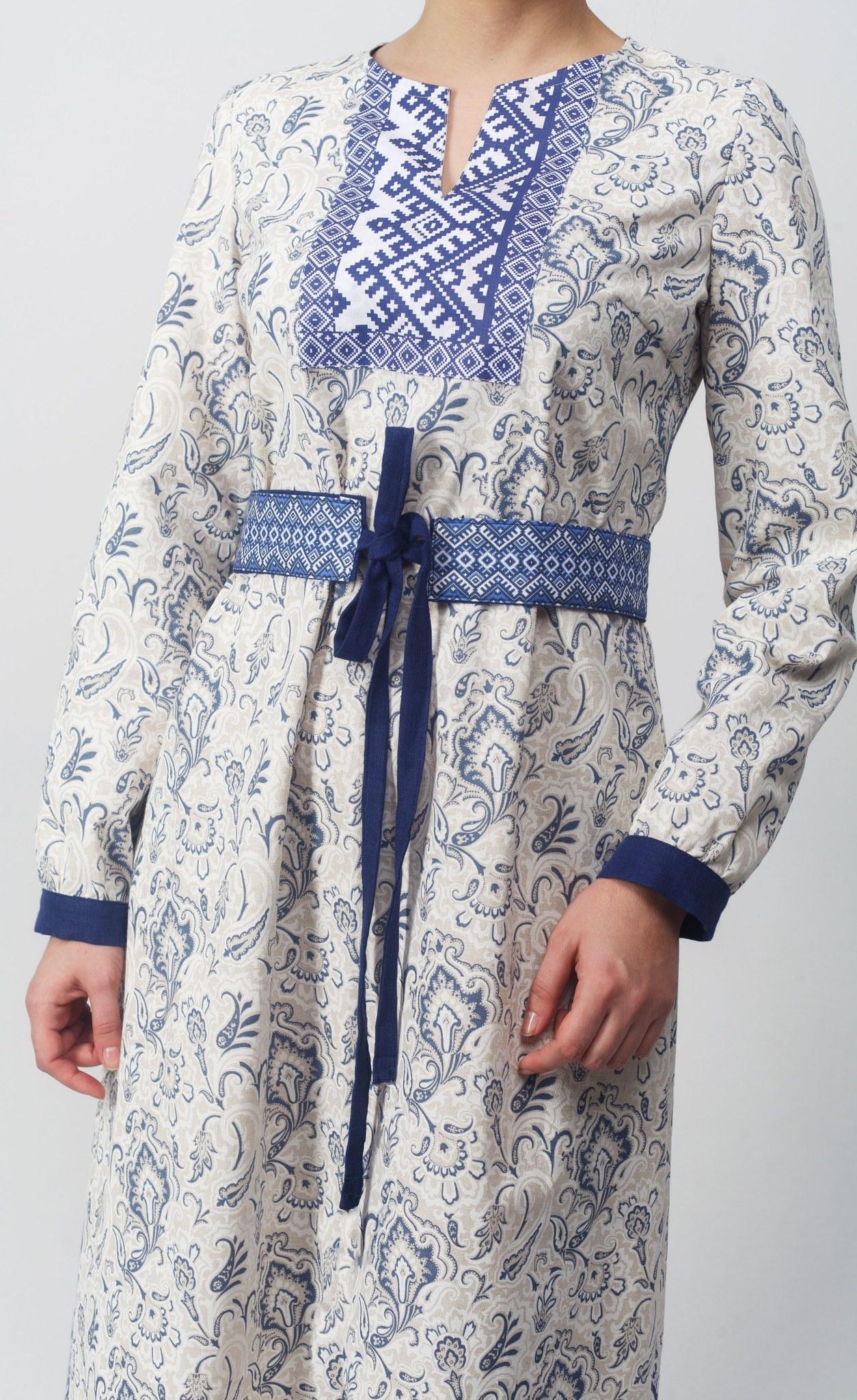 Платье Времена года осень вид сбоку