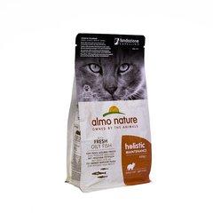 Корм для взрослых кошек, Almo Nature Adult Cat White Fish&Rice, с жирной рыбой и коричневым рисом