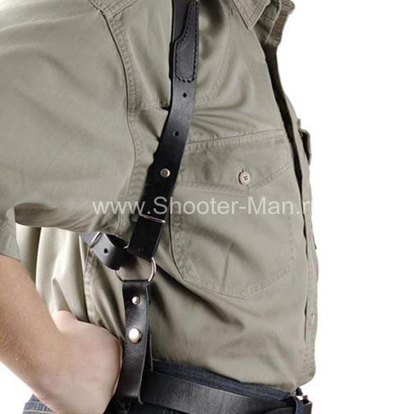 Оперативная кобура для револьвера Гроза Р-06 вертикальная ( модель № 20 ) Стич Профи