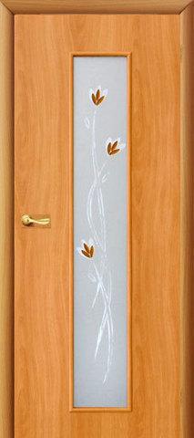 Дверь Сибирь Профиль Ветка (С-17ф) фьюзинг, цвет миланский орех, остекленная
