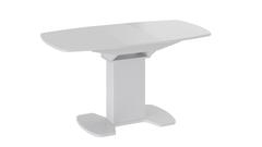 Стол Портофино 130 (Белый глянец/Стекло белое) ножка 05