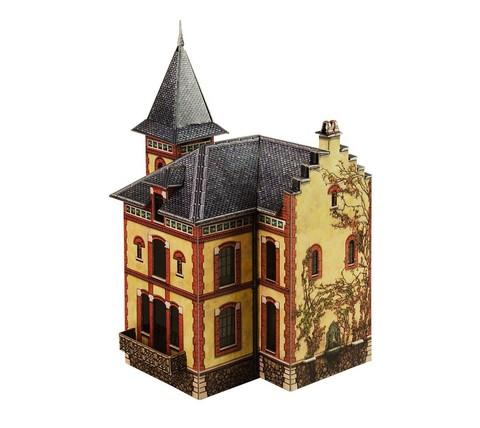 Вилла в Виллемомбле. Сборная модель из картона