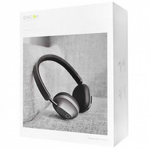 Наушники Bluetooth BASEUS Encok D01, (BT4.2, 8H) grey