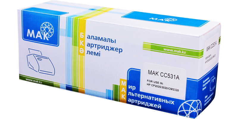 MAK №304A CC531A CARTRIDGE-318/718/418/118, голубой (cyan)
