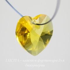 6228 Подвеска Сваровски Сердечко Sunflower (10,3х10 мм)