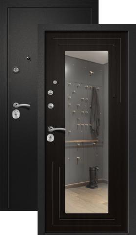 Дверь входная Ретвизан Аризона-222, 2 замка, 1,4 мм  металл, (сатин чёрный+венге)