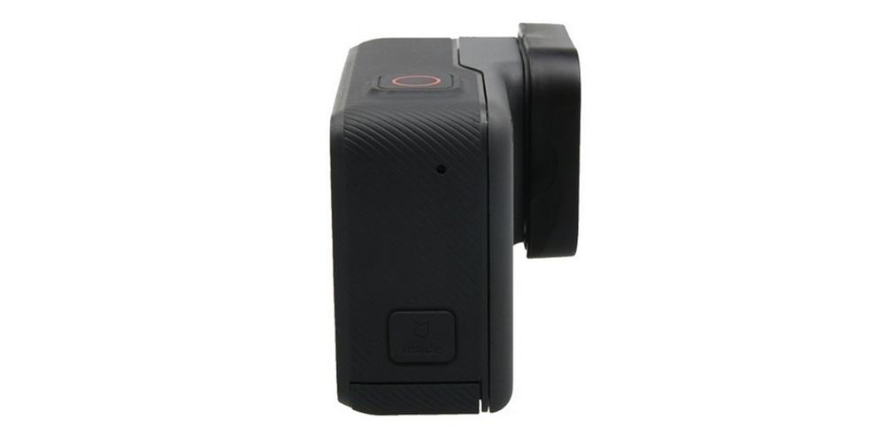 Защитная крышка на объектив HERO5, HERO6 и HERO7 Black на камере сбоку