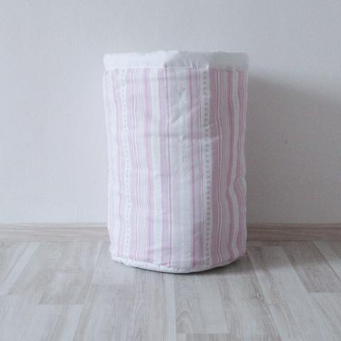 Тканевая корзина для игрушек Pink Stripes розовые полосы