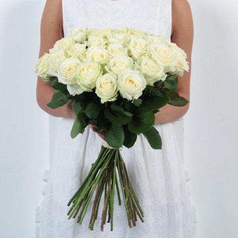 Белые розы (60 см)