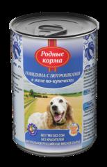 Родные корма консервы для собак Говядина с потрошками в желе по-купечески 970гр