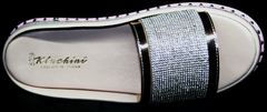 Кожаные шлепки женские Kluchini 5259T189 SR.