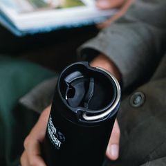 Термобутылка Klean Kanteen TKWide Cafe Cap 12oz (355 мл) Shale Black