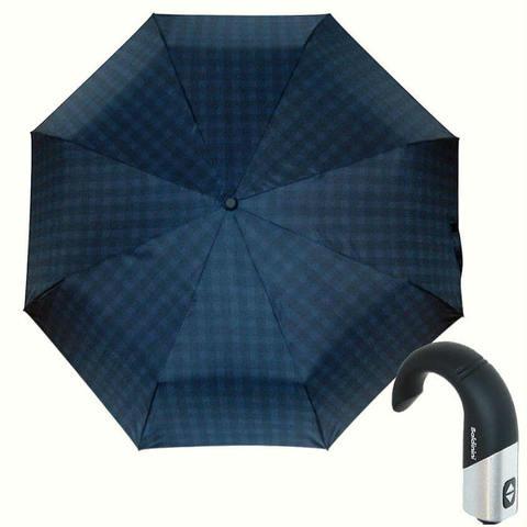 Купить синий зонт с ручкой крюк Baldinini