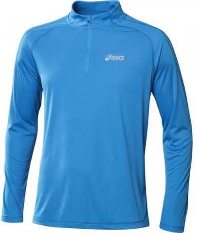 Asics Ls 1/2 Zip Top Мужская рубашка для бега голубая