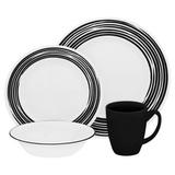 Набор посуды Brushed Black 16 пр, артикул 1117022, производитель - Corelle