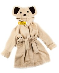 Детский  банный  махровый  халатик Funny Mouse бежевый