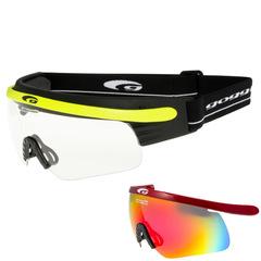 Комплект лыжные очки-маска Goggle Shima+ , Линза Red-Rainbow