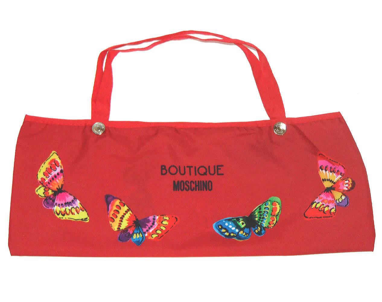 Зонт складной Moschino 7078-С Butterflies rosso
