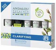 """Набор из 5 минипродуктов """"комплексное очищение лица"""", Andalou Naturals"""