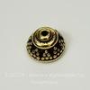 """Шапочка для бусины TierraCast """"Бали"""" (цвет-античное золото) 8х5 мм"""