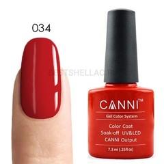 Canni, Гель-лак № 034, 7,3 мл
