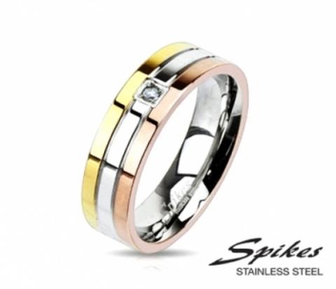 Разноцветное мужское кольцо «Spikes» из стали