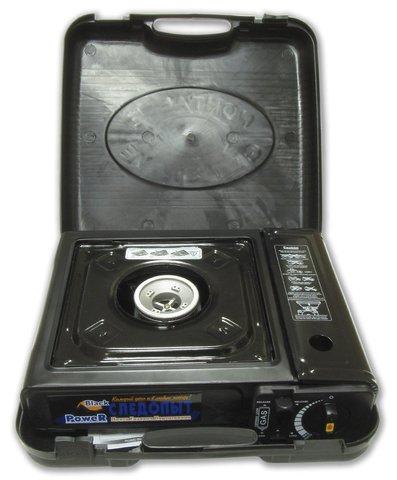 Настольная газовая плита СЛЕДОПЫТ PoweR Black (PF-GST-N05)