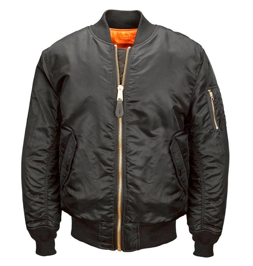 Куртка Бомбер - MA-1 Alpha (черная - black)