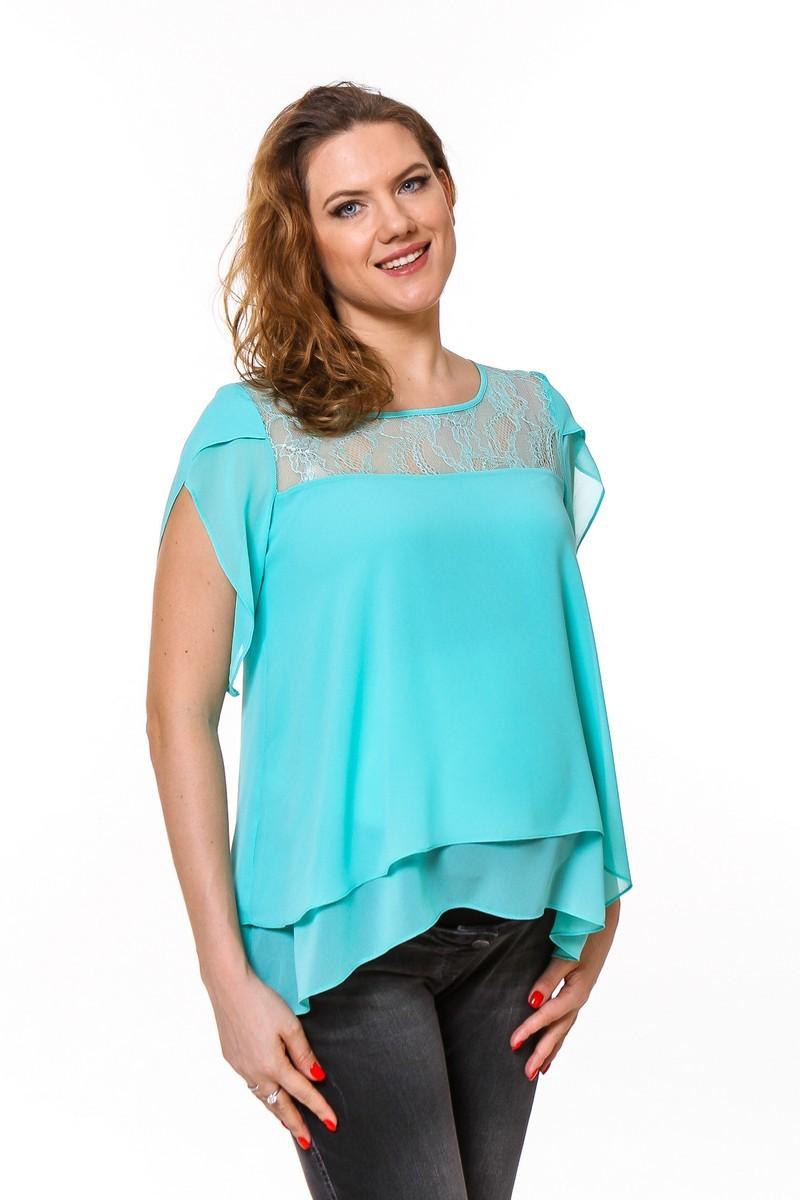 Блузка 08667 зеленый