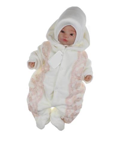 Велюровый утепленный комбинезон для новорожденных Beautiful