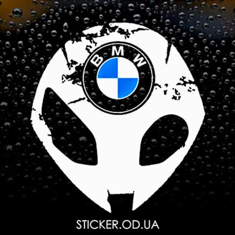 Виниловая наклейка на мотоцикл  BMW S1000RR HP4, new logo,