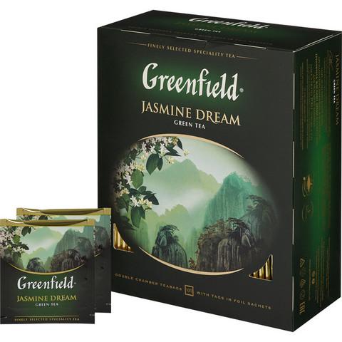 Чай Greenfield Jasmin Dream зеленый,100пак/уп