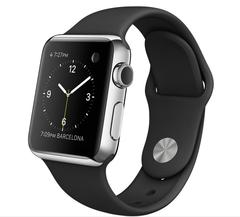 Часы смарт Apple Watch 38мм (чёрный полимерный ремешок)