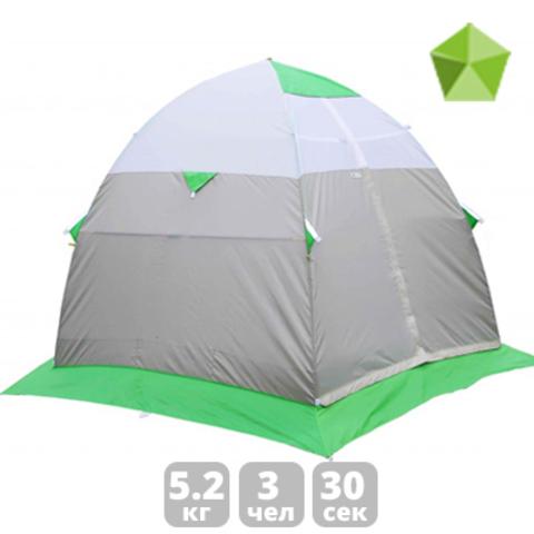Палатка для зимней рыбалки Лотос 3 (зеленый/оранжевый)