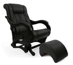 Кресло-качалка Модель 78 Экокожа с банкеткой
