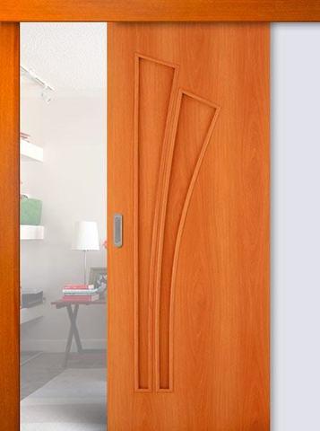 Дверь раздвижная Сибирь Профиль Лагуна (С-7), цвет миланский орех, глухая