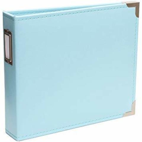 Альбом на кольцах 20*20 см для Project Life-Эко-кожа -Project Life Classic Faux Leather D-Ring Album -Baby Blue