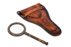 Увеличительное стекло в кожаном чехле Secret De Maison ( mod. 46250 ) — античная медь