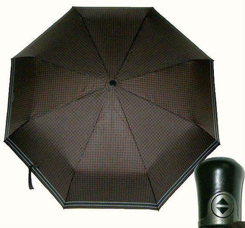 Купить онлайн Зонт складной Maison Perletti16229-brown-Geometric в магазине Зонтофф.